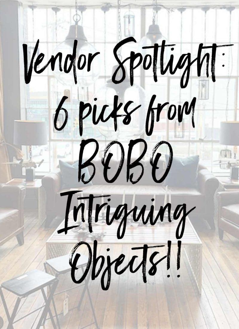 Vendor Spotlight: 6 picks from BOBO Intriguing Objects!!