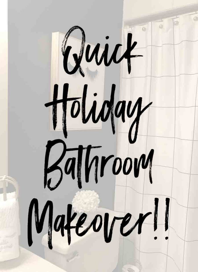 Quick Holiday Bathroom Makeover!!