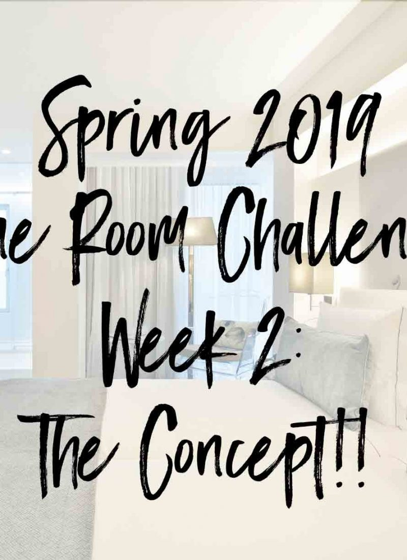 Spring 2019 One Room Challenge- Week 2: The Concept!!