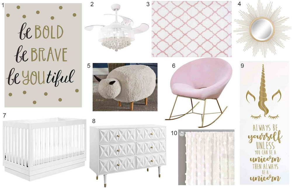 baby-nursery-with-gold-and-white