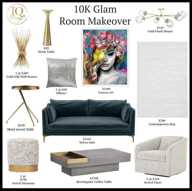 10K Glam Room Makeover