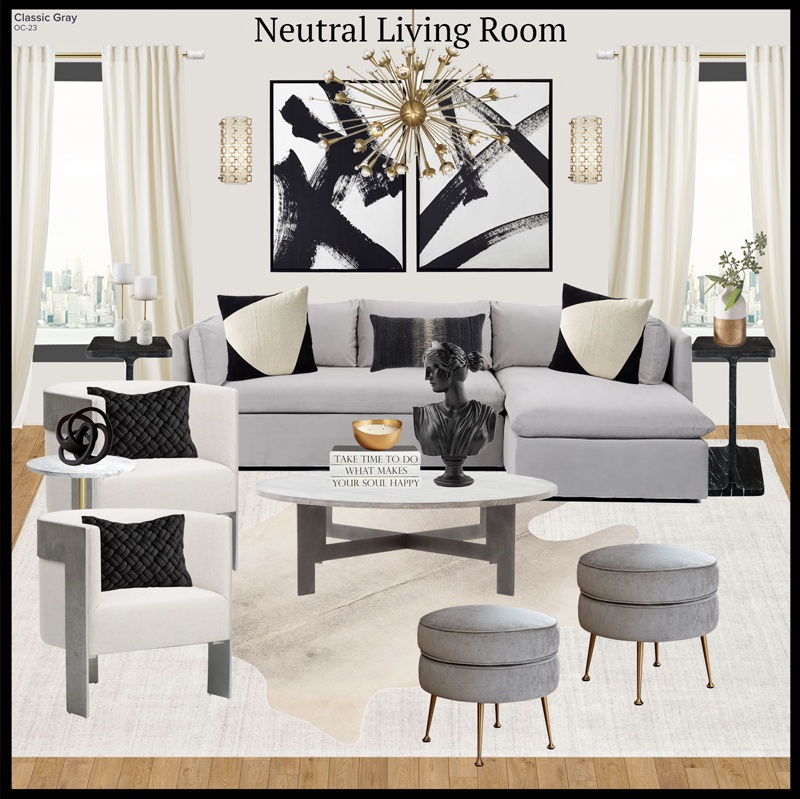 How to get the look of a Neutral Living Room like a Designer