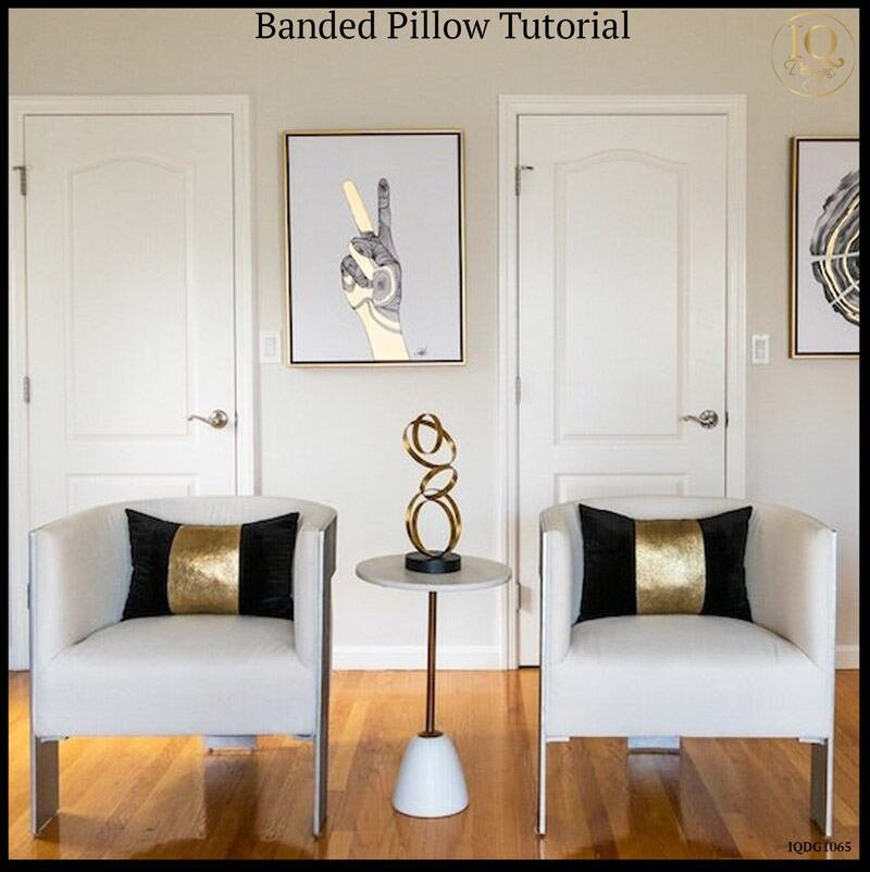 How to Make a Banded Pillow a la Kelly Hoppen
