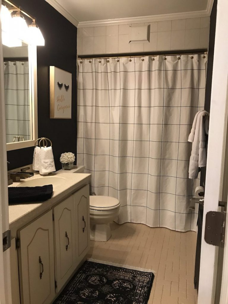 airbnb-bathroom-makeover-with-black-wall