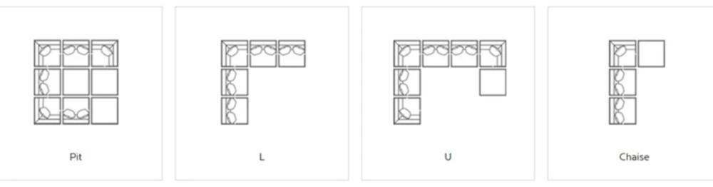 beckham-modular-sectional-configurations