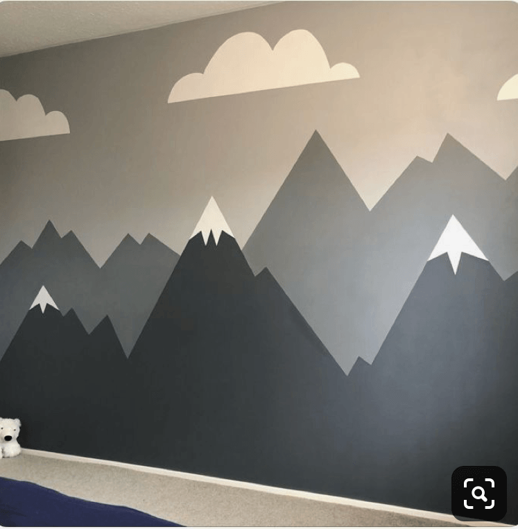 diy-tutorial-how-to-paint-a-mountain-murial-in your-kids-room-nursery-10