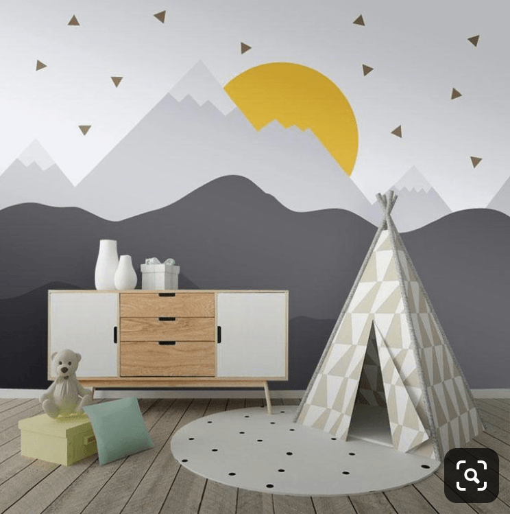 diy-tutorial-how-to-paint-a-mountain-murial-in your-kids-room-nursery-15
