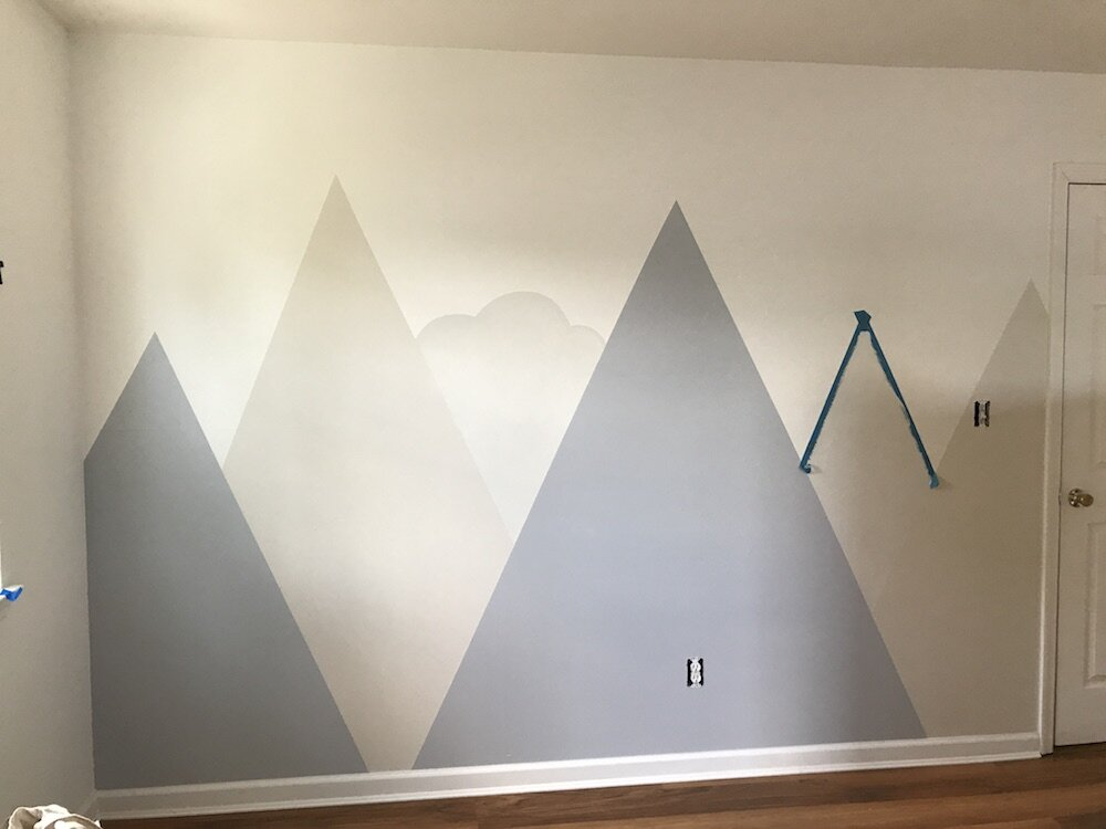 diy-tutorial-how-to-paint-a-mountain-murial-in your-kids-room-nursery-6