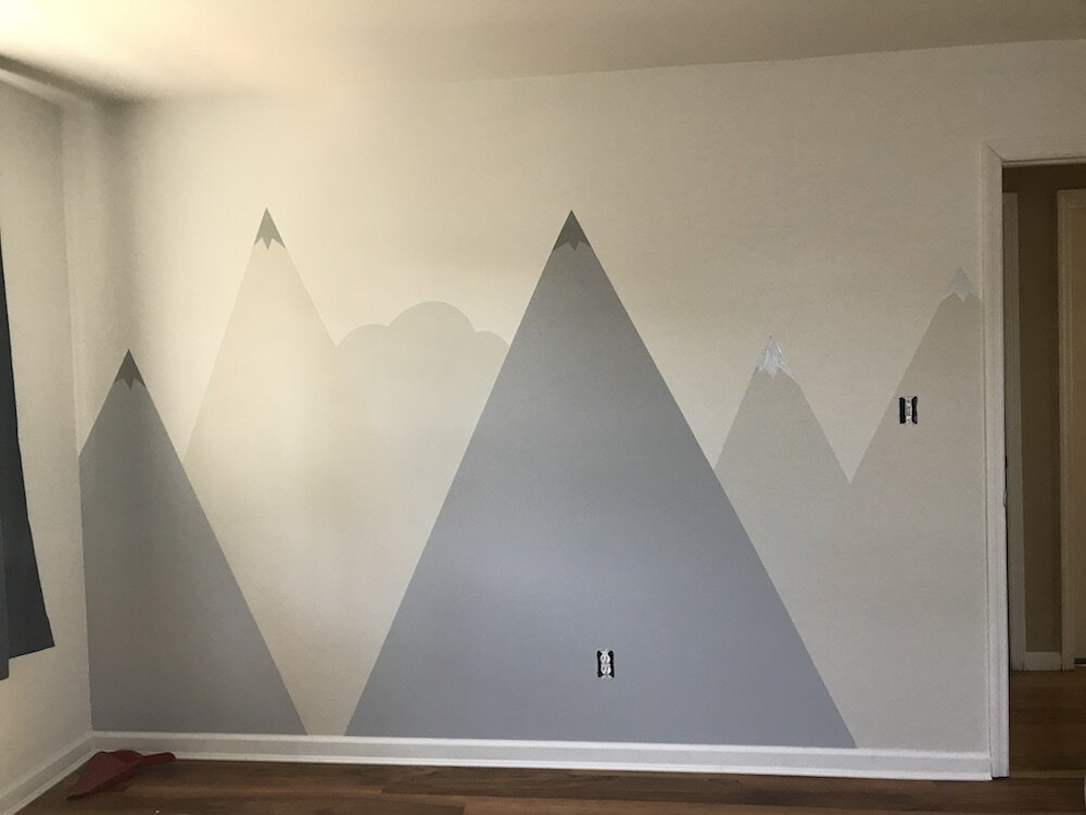 diy-tutorial-how-to-paint-a-mountain-murial-in your-kids-room-nursery-7