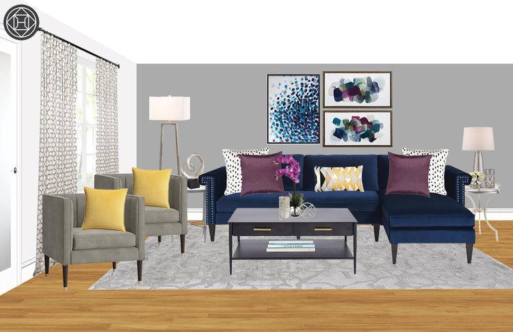 edesign-contemporary-glam-living-room with-navy-velvet-sofa.jpg