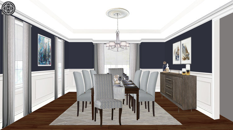 edesign-for-dining-room-with-medallian-and-chandelier.jpg