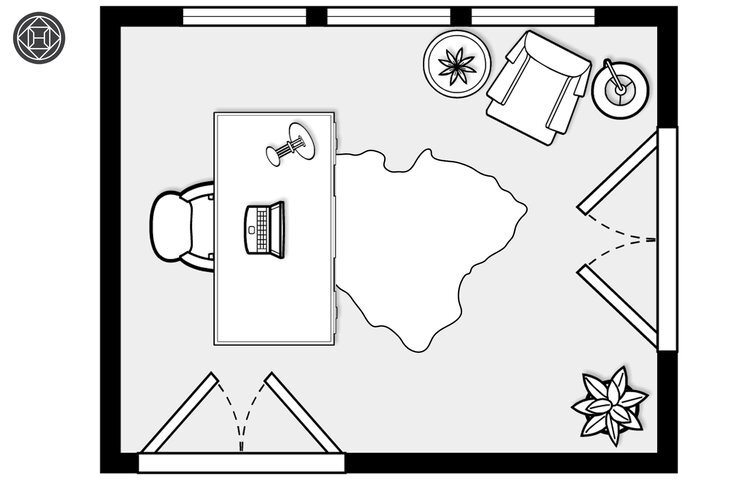 floor-plan-for-office-design-with-hide-rug