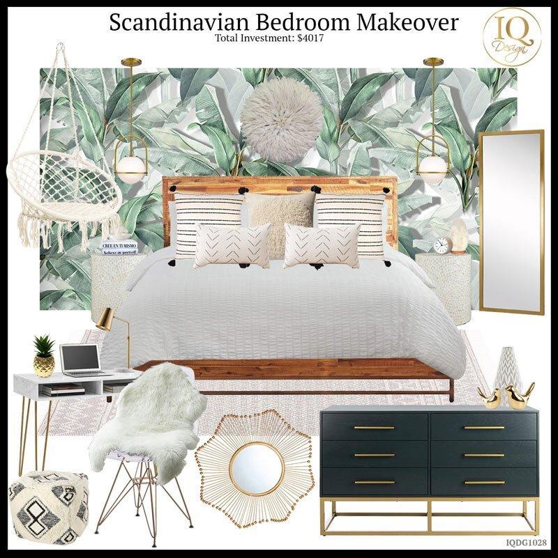 How to design an Amazon Scandinavian Airbnb Bedroom!