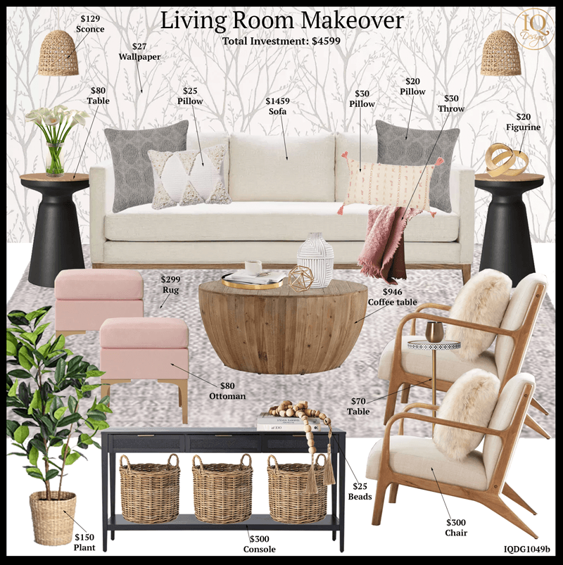 How to get a Budget Living Room Makeover from Target!