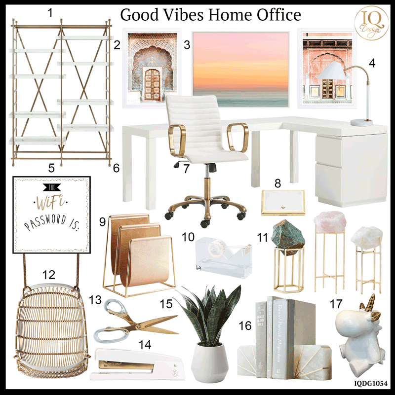 Home Office To Make You Happy While You Work + Shop The Look