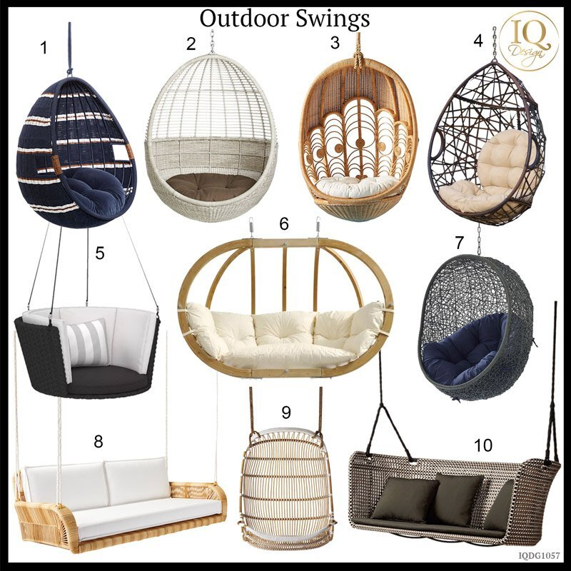 10 Outside Swings To Update Your Front Porch or Backyard
