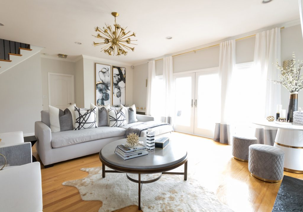 living-room-with-classic-gray-walls-and-gray-chaise-sofa-1200x840